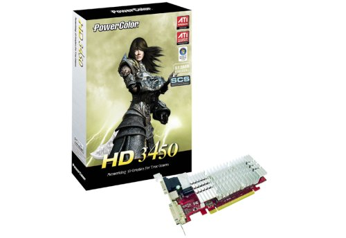 PowerColor ATI Radeon HD 3450 512 MB DDR2 PCI-Express DUAL DVI Low Profile Grafikkarte Ati 3400-serie