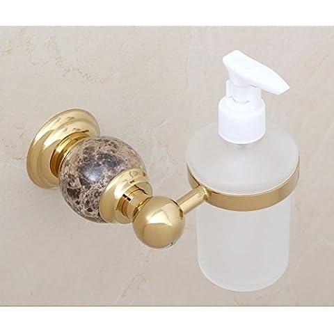 dispenser di sapone di cristallo in ottone dorato/lavello della cucina bottiglia dispenser di sapone a parete/Bagno disinfettante per le mani bottiglia/ciondolo in metallo in stile europeo-B