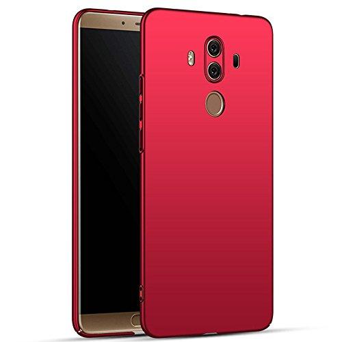 for Huawei Mate 10 Pro Hülle, ZUERCONG [Matte Serie] Ultra Dünn Slim Cover Case Anti-Fingerabdrücke Anti-Scratch Shockproof Handytasche Hartplastik Schutzhülle für Huawei Mate 10 Pro, Glattes Rot