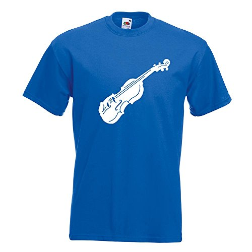 Kiwistar Geige - Violine - Musik T-Shirt in 15 Verschiedenen Farben - Herren Funshirt Bedruckt Design Sprüche Spruch Motive Oberteil Baumwolle Print Größe S M L XL XXL Royal