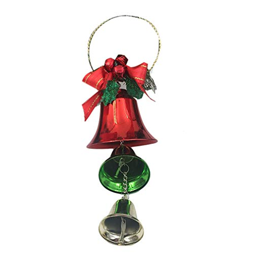 e01cf1a4dee2cc LJSLYJ Red Green Christmas Open Horn Pendants Jingle Bell Christmas Tree  Door Hanging Christmas Decorations