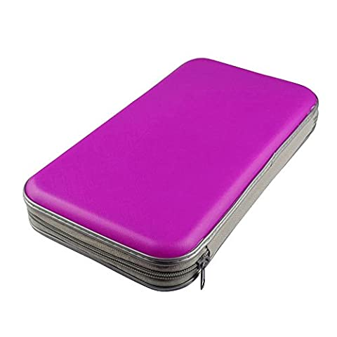 Japace® Portable Plastic 80pcs Disc CD DVD Wallets Storage Organizer Bags Cases Purple