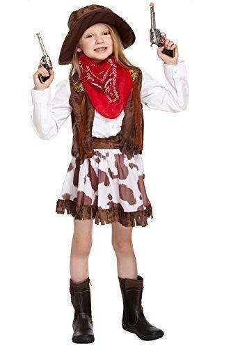 m Halloween Kostüm Gr. 7-9 Jahre (Halloween Cowgirl)