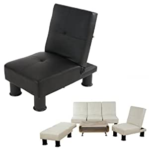fauteuil relax canap convertible lit d 39 amis lit d 39 appoint melbourne ii similicuir noir. Black Bedroom Furniture Sets. Home Design Ideas