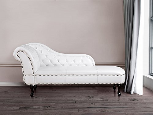 Chaise Longue – Chesterfield – Right Hand Facing Chaise – Faux ...