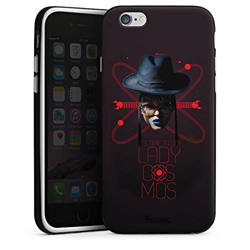 Apple iPhone X Silikon Hülle Case Schutzhülle Frau Hut Lippenstift Silikon Case schwarz / weiß