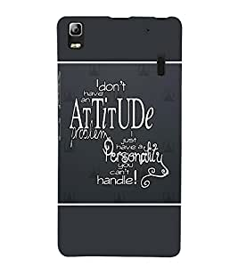 Takkloo quote on attitude abstract design, cover with quote, cover with sayingstylish coverclassy cover ) Printed Designer Back Case Cover for Lenovo A7000 :: Lenovo A7000 Plus :: Lenovo K3 Note