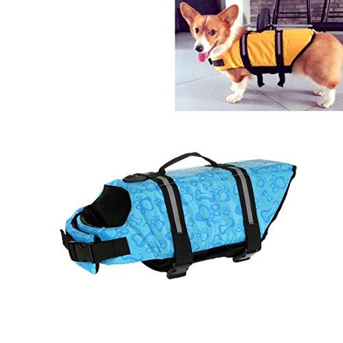 SRY- Haustierzubehör Pet Saver Hund Reflektierende Streifen Schwimmweste Jacke für Schwimmen Bootfahren Surfen, Größe: S Nett und praktisch ( SKU : Hc7124c ) (Streifen Bootfahren)