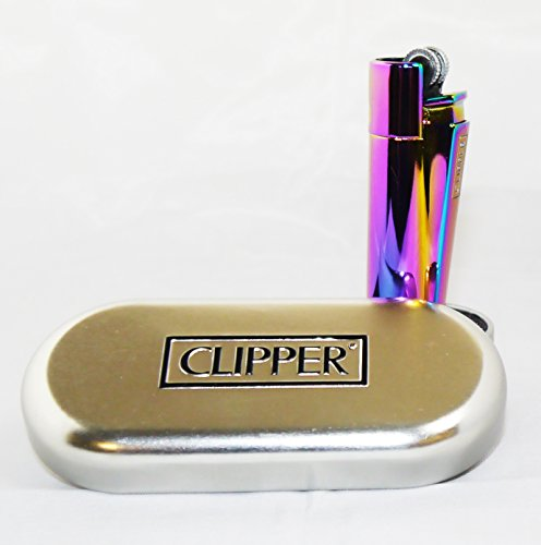 Preisvergleich Produktbild Clipper Feuerzeug, Glacier Ice Regenbogenfarben, In Dose/Geschenkbox by Clipper
