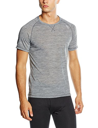 Odlo Herren Unterhemd Shirt Short Sleeve crew neck REVOLUTION TW LIGHT, grey melange, L, 110292