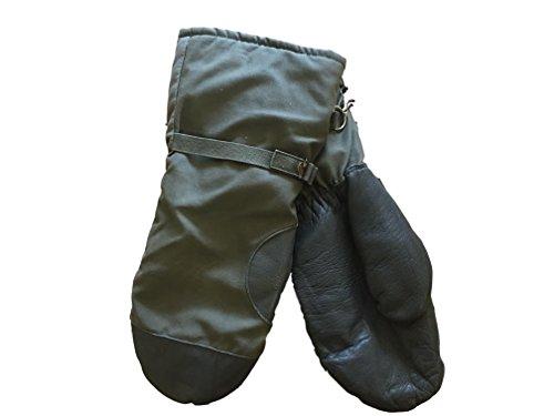 Goretex Schnee-Handschuhe, Bundeswehr-Überschuss, Kunstfell, gefüttert, Überzieh-Handschuhe Grau Grau