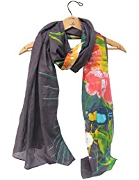 Disaster Designs Havana Large Scarf, Beach Wrap / Sarong - Tropical Black