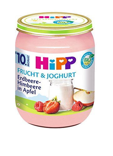 HiPP Erdbeere-Himbeere in Apfel, 6er Pack (6 x 160 g)