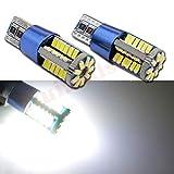 Ruiandsion 4 x T10 194 168 Canbus LED Innenraum-Leuchtmittel DC 12-24 V 4014 57SMD weiße LED-Leuchtmittel für Rückfahrlicht, Bremslicht, Armaturenbrett, Leselicht, Seitenmarkierungsleuchten