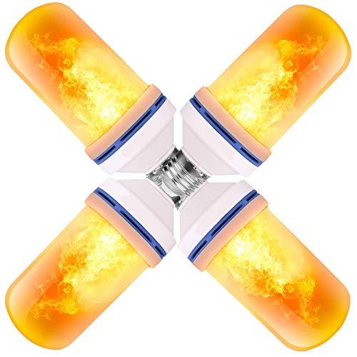 Flammen Lampe,Flamme Glühbirne,3 Beleuchtungsmodi Indoor/Outdoor dekorative Lichter für Halloween/Weihnachten (4W E27 Base) (4PCS)