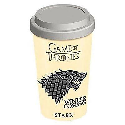 Game Of Thrones Official Ceramic Stark Travel Mug