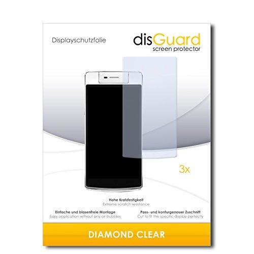 3 x disGuard® Schutzfolie Oppo N3 Bildschirmschutz Folie