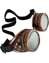AIflyMi Gafas Steampunk Gafas Cyber Gafas Estilo Victoriano Punk Soldadura Cosplay Remache rústico Gafas Novedosas de la Vendimia