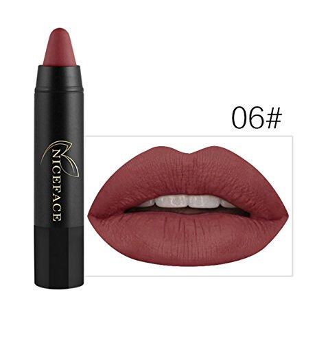Bluestercool Rouge à Lèvres Mat Brillant Maquillage à Lèvres 24 Couleurs (6#)