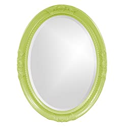 Howard Elliott 40101MG Queen Ann Mirror, Glossy Green