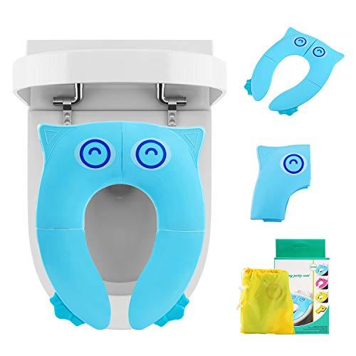 LEADSTAR Asiento de Inodoro para Niños, Plegable Tapa WC Orinal Bebe Reductor Compacto y Portátil...