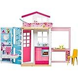 Barbie- Casa Componibile con Bambola, 13.5 x 53.5 x 32 cm, DVV48