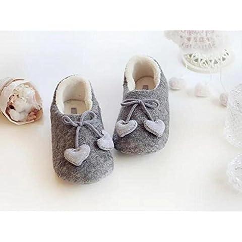 ZZHH pantofole di cotone Casa coperta calda scarpe borse semplice con antiscivolo scarpe confinate . 38-39