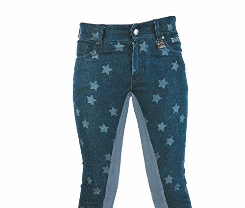 Bibi & Tina Damen Jeans Stars Reithose, Jeansblau, 134