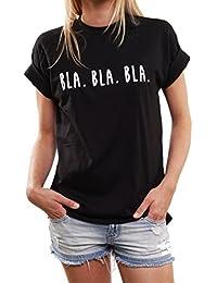 Lustige Geschenke für Frauen - BLA BLA BLA - Oversize Shirt schwarz große Größen