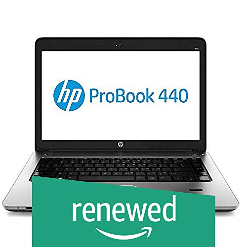 Renewed  HP Probook 440G1 i5 16   GB 1 TB 14 inch Laptop  4th Gen Core i5 4210M /16  GB/1TB/Windows 7/Integrated Graphics , Black Laptops