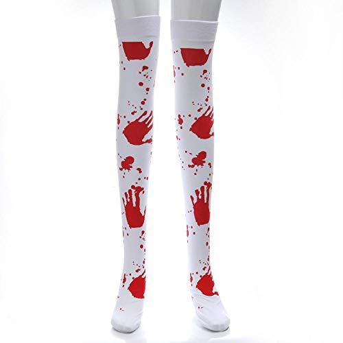 Drreny Halloween Strümpfe Party Blutvergießen Socken Maskerade Kostüm Requisiten Ghost Festival Zombie Blutige Krankenschwester Socken 4