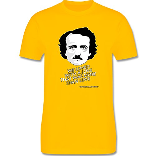 Statement Shirts - Edgar Allan Poe - We loved with a love that was more than love - Herren Premium T-Shirt Gelb