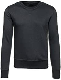 BOLF Herren Pullover Sweatshirts Langarm Pulli ohne Kapuze MIX