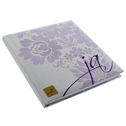 Goldbuch Gästebuch mit Lesezeichen, Ja, 23 x 25cm, 176 weiße Blankoseiten Schreibpapier, Kunstdruck mit Relieflack, Weiß, 48021