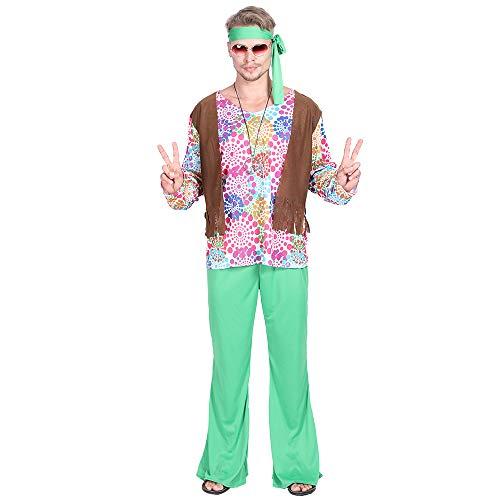 EraSpooky Herren 60er Jahre Hippie Kostüm Faschingskostüme Cosplay Halloween Party Karneval Fastnacht Kleid für Erwachsene