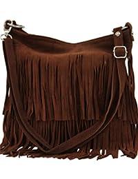 AMBRA Moda bolso de las señoras gamuza con refriega WL809