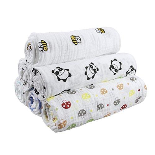 Neugeborenen Hygroskopische Babydecke, Schlafdecke, Kinder Kleinkinder Wickeldecke für Jungen und Mädchen, 115*115CM
