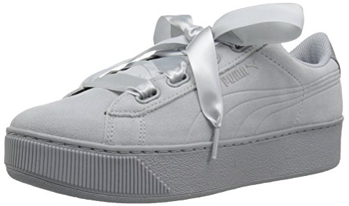 official photos 9052c fdb3e Puma Damen Sneaker Vikky Platform Ribbon S 366418 Quarry-Quarry 40