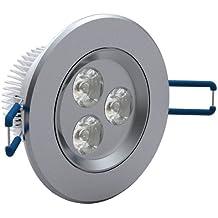 Set da 12 faretti LED da incasso 3W colore della luce: Bianco Freddo