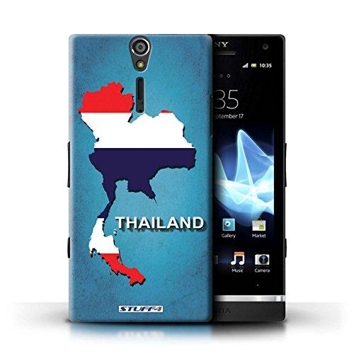 Kobalt® Imprimé Etui / Coque pour Sony Xperia S/LT26i / grande-Bretagne conception / Série Drapeau Pays Thaïlande/Thai