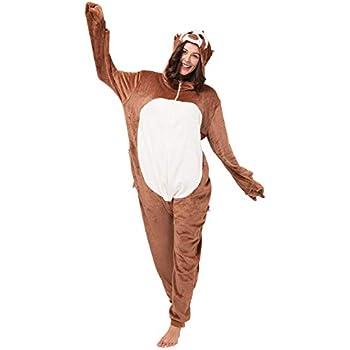 Orso marrone giallo Katara 1744 Kigurumi Unisex Adulti Costume Animale Pigiama intero Carnevale 155-165cm