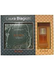Laura Biagiotti Roma Geschenkset (EdT Uomo für Ihn 125ml + EdT Donna für Sie 25ml)