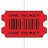 Redención billete, rojo