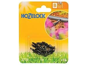 Hozelock 2778P0000 Raccord droit 4 mm Noir 15 x 12 x 13 cm