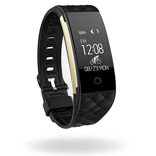 OPTA SB-018 Black Bluetooth Heart Rate sensor Smart Band and fitness tracker for Android/IOS Mobile Phones compatible with Samsung IPhone HTC Moto Intex Vivo Mi One Plus and many others! Launch Offer!!