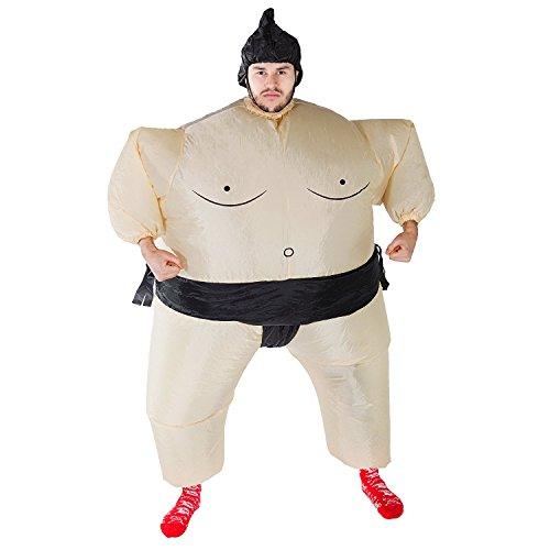 Imagen de thee disfraces inflable luchador de sumo traje hinchable para halloween