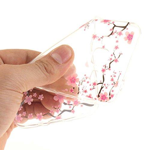Custodia iPhone 7 Plus, iPhone 7 Plus Copertura Cover 5.5, Bling Bling Glitter flowing Liquido che scintillio galleggiante trasparente, iPhone 7 Plus Case, anti-urti cavallo e penna di tocco color-9
