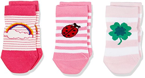Tommy Hilfiger Baby-Unisex Socken TH Lucky Charms Giftbox 3P, 3er Pack, Rosa (Pink Lady 422), 19-22