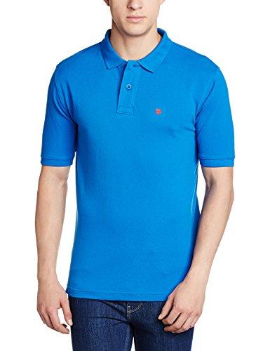 Wrangler Men's Regular Fit Cotton Polo (W20184J03A98_Small_Blue)