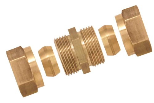 Boutté 3151452 Rohrverschraubung mit Doppelkonus, Messing, 15x21, Rohrdurchmesser 12mm